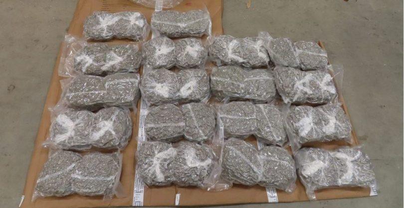 127kg of cannabis in vacuum-sealed bags.