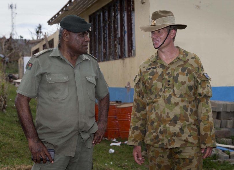 James Dugdell and Semi Mocelutu in Fiji.