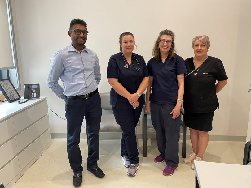 Dr Alam Yoosuff, Dr Rhiannon Baldwin, Dr Fiona Gleeson and Therese McGlynn.