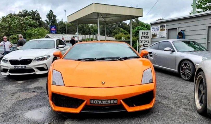 Sports car at Fuel East Lynne.