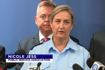 Nicole Jess at press conference.