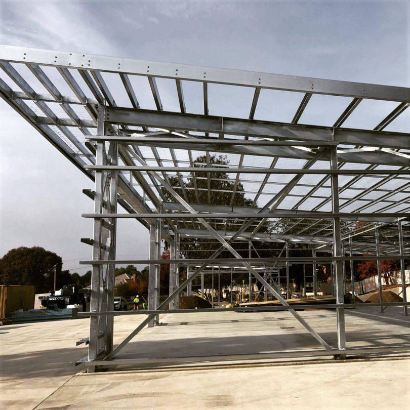 The new Yass Ambulance Station under construction.