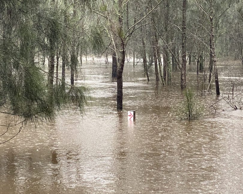 Flooding at Mogendoura Farm.