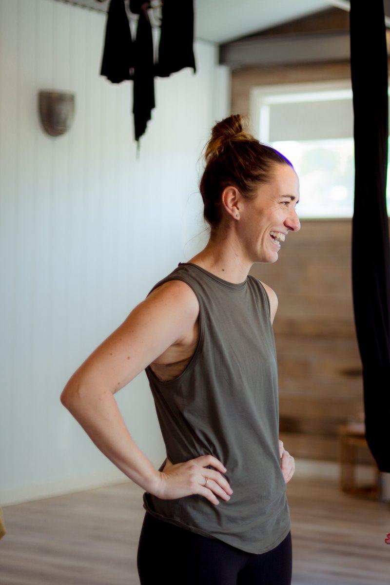 Mel Champion at Life Yoga Goulburn studio.