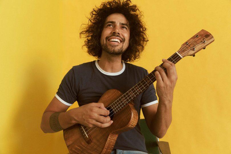 Bobby Alu playing ukulele