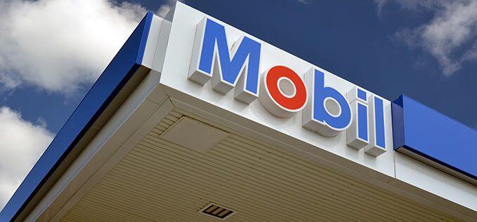 Mobil service station