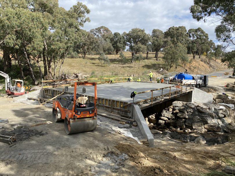Kangaroo Creek Bridge under construction