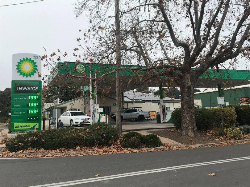 BP service station at Murrumbateman