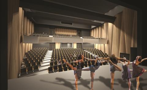 Artist's impression of auditorium at Goulburn Performing Arts Centre