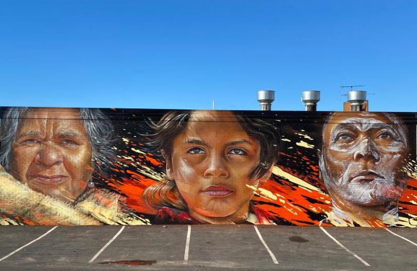 Indigenous mural in Batemans Bay