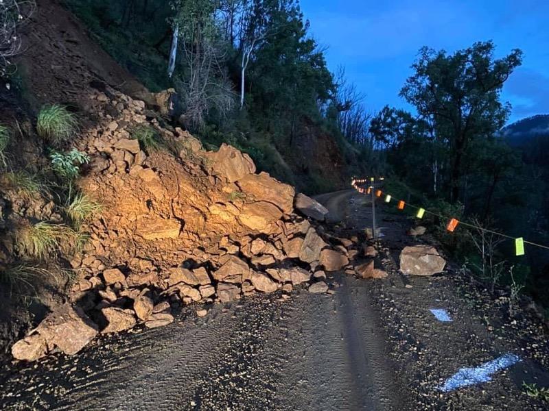 Landslide on Araluen Road