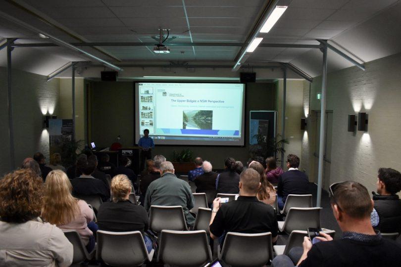 Attendees at Upper Murrumbidgee Demonstration Reach forum in Canberra