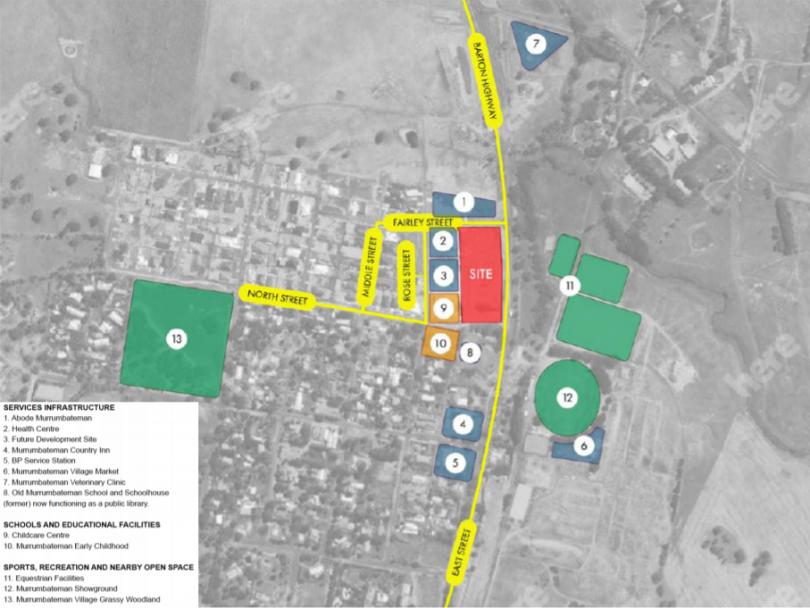 Overlay image of site for new primary school in Murrumbateman