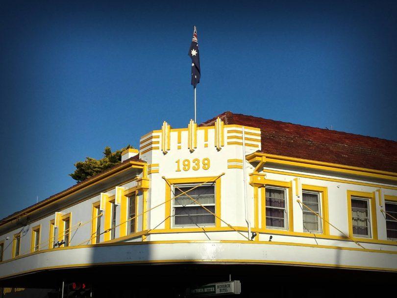 Exterior of Monarch Hotel in Moruya