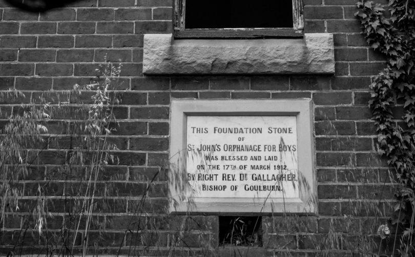 St John's Orphanage foundation stone