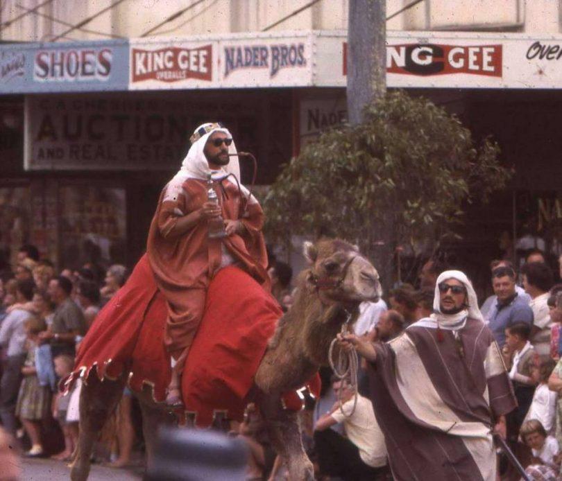 Michel and John Nader in Moruya Mardi Gras street parade
