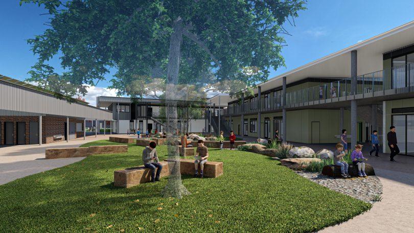 An artists' impression of the new Murrumbateman Primary School.