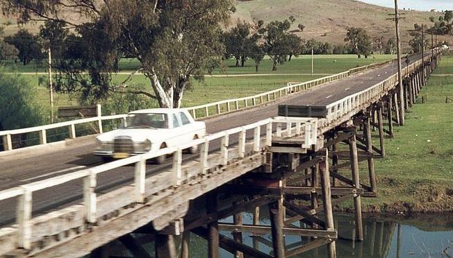 Gundagai's historic bridge