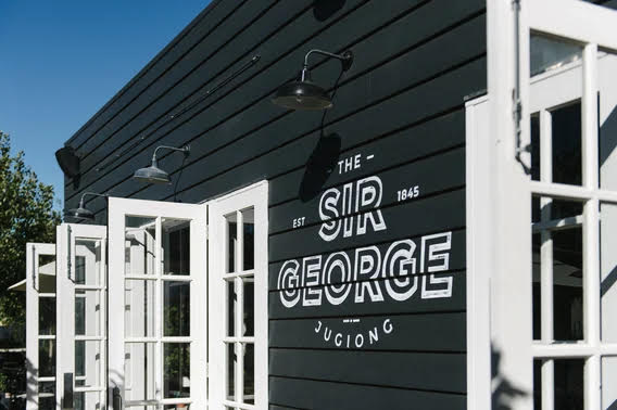 Exterior of The Sir George hotel in Jugiong